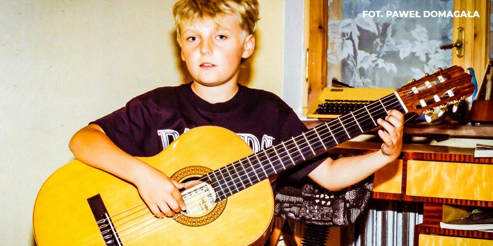 Paweł Domagała jako dziecko