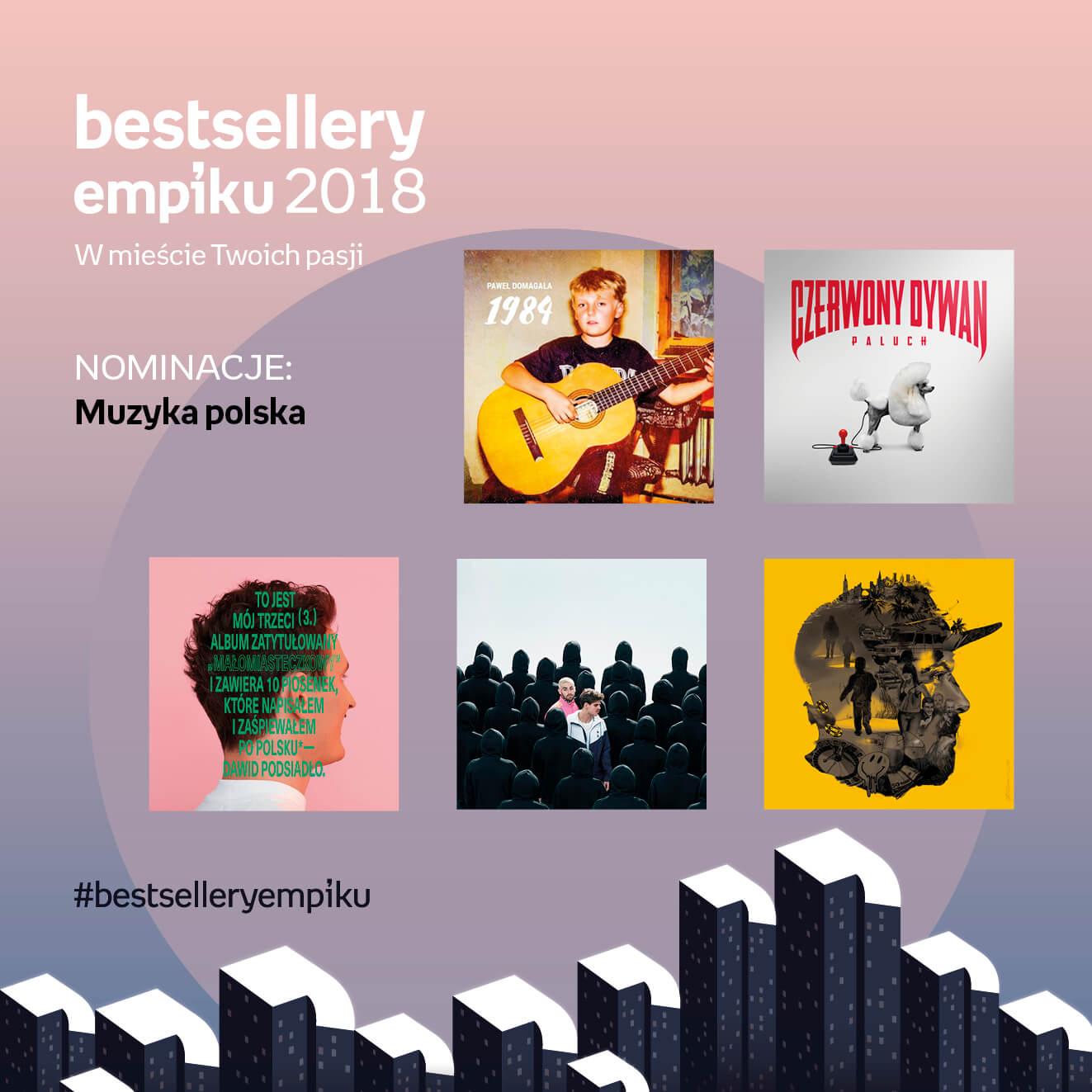 Bestsellery Empiku. Paweł Domagała i jego 1984 z nominacją!
